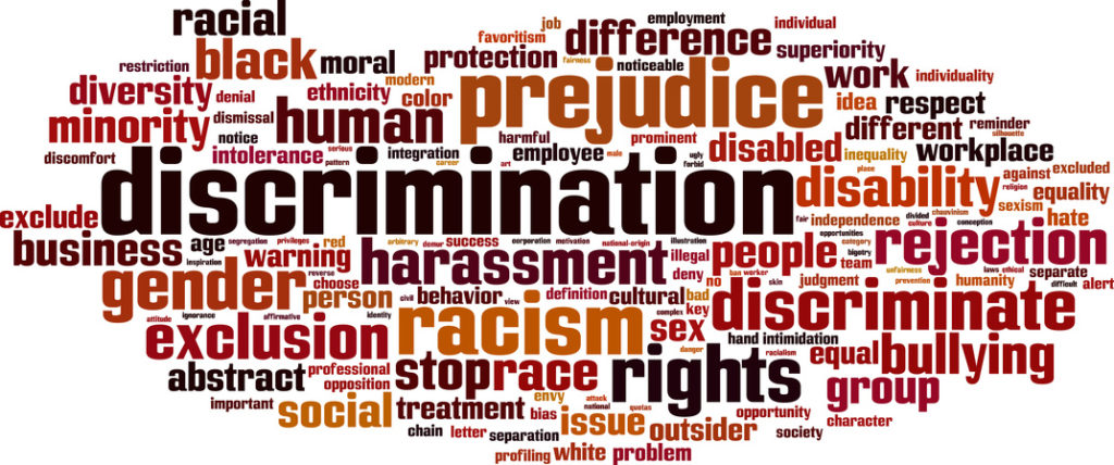 prejudice, descrimination, split of authority: discrimination and the Title VII
