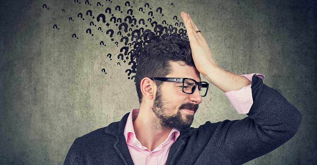man with palm on forehead, many questions, confused, bizarre but real-life contract disputes