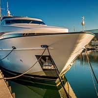 yacht in harbor, wealth, formal administration, large estate, personal representative